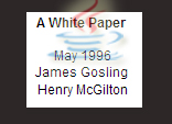 Java White paper by James Gosling - May 1996