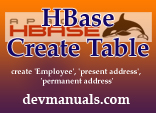 HBase Create Table