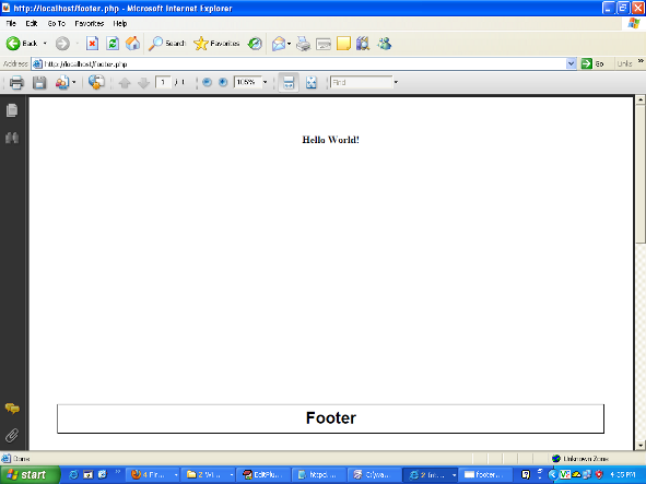 Footer in PDF