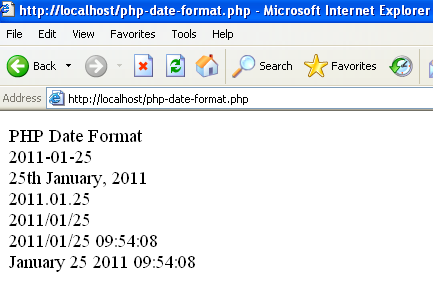 Date php