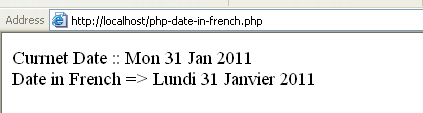 Fonction dateToFrench